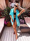 Жіноча красива пляжна котонові туніка - сорочка батал, фото 8