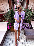 Жіноча красива пляжна котонові туніка - сорочка батал, фото 5