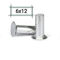 Заклепка алюминиевая 6х12 потайная DIN 661