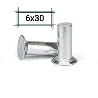Заклепка алюминиевая 6х30 потайная DIN 661