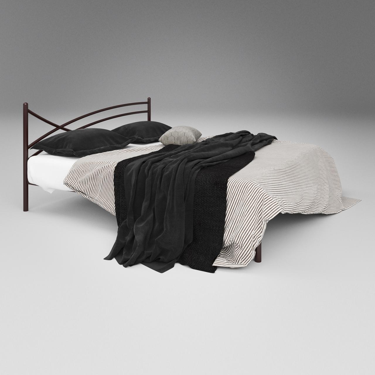 Кровать металлическая двуспальная Гвоздика