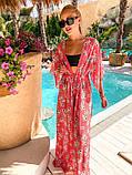 Женская стильная пляжная туника с принтом, фото 4