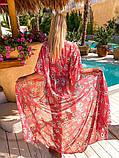 Женская стильная пляжная туника с принтом, фото 3