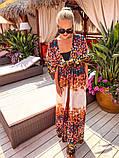 Жіноча стильна пляжна туніка з принтом, фото 5