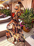 Жіноча стильна пляжна туніка з принтом, фото 2