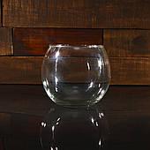 Круглый аквариум 2,3 л, ваза