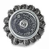 Щітка чашкова 6 х 75 мм по металу і дереву з плетеним дроту для ручних дрилів (Німеччина), фото 4