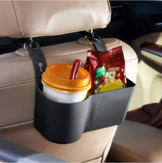 Держатель - подставка на подголовник в авто, для напитков и снеков