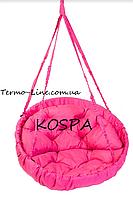 Садовая качель гамак производство Украина LUX до 120кг розовый, фото 1