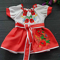 Вышитое платье детское с ярким дизайном