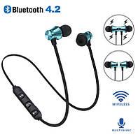 Наушники Bluetooth  Sport Magnetic, спортивные, магнитные Золотисті Код 120Золотисті