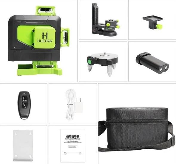 Лазерний рівень Huepar 4D 904DG