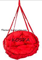 Садовая качель гамак производство Украина LUX до 200кг красный, фото 1