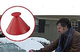 Набор лейка и конус 2 шт (большой и маленький) - скребок для очистки стекла автомобиля от снега и льда, фото 2