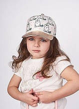 Дитяча кепка для дівчинки Одяг для дівчаток 0-2 Dembo House Україна МІРТА Молочний