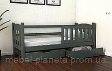 Ліжко односпальне підліткова дитяча Еллі (Місяць)