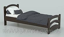 Детская кровать односпальная из натурального дерева Барни (Луна)