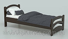 Дитяче ліжко односпальне з натурального дерева Барні (Місяць)