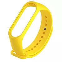 Силиконовый жёлтый ремешок на фитнес трекер Xiaomi mi band 4 / 3 браслет аксессуар замена