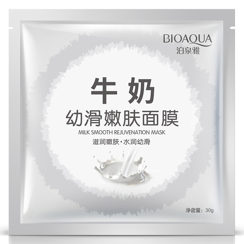 Маска для лица с экстракт молочного белка Bioaqua Milk Smooth Rejuvenation Mask, 30г