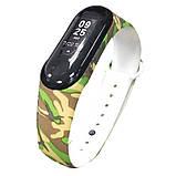 Силиконовый ремешок защитный ХАККИ светлый на фитнес трекер часы Xiaomi mi band 3 / 4 браслет аксессуар замена, фото 3