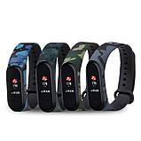 Силиконовый ремешок ЗАЩИТНЫЙ СЕРЫЙ на фитнес часы Xiaomi mi band 3 / 4 браслет аксессуар замена, фото 4