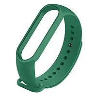 Силиконовый темно-зеленый ремешок на фитнес трекер Xiaomi mi band 4 / 3 браслет аксессуар замена