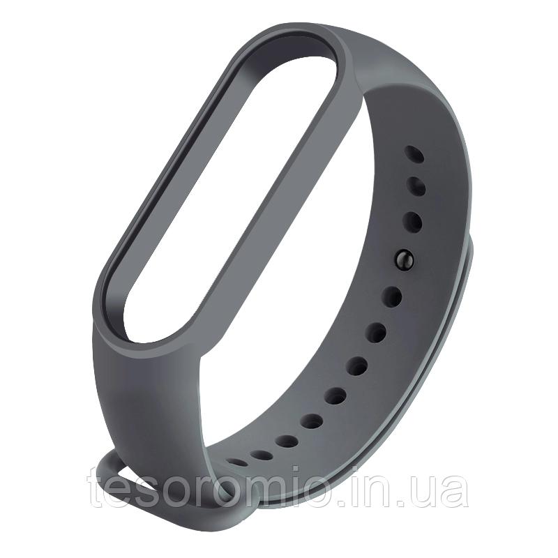 Силиконовый серый  ремешок  на фитнес трекер Xiaomi mi band 4 / 3 браслет аксессуар замена
