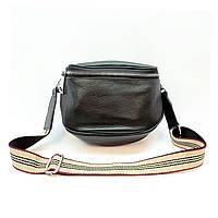 Женская сумка черная маленького размера повседневная натуральная кожа, фото 1