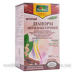 Фиточай Дианорм антидиабетический, 20 пакетиков, Dr.Fito