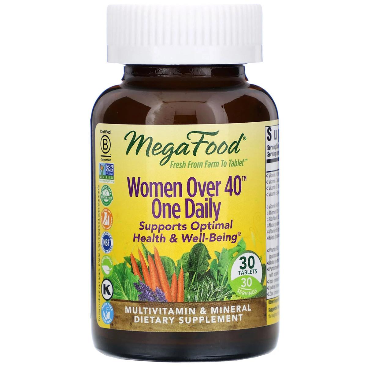 Мультивитамины для женщин 40+, Women Over 40 One Daily, MegaFood, 30 таблеток