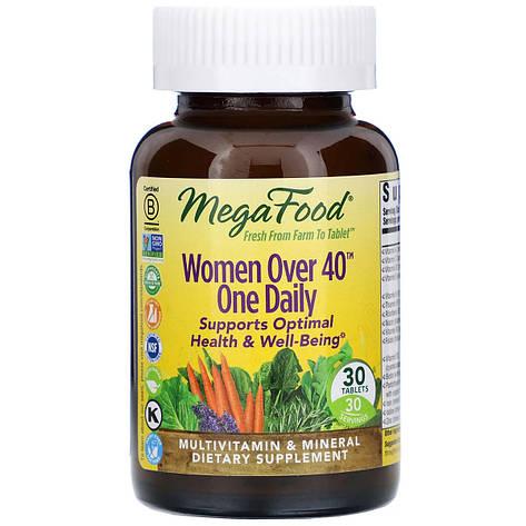 Мультивитамины для женщин 40+, Women Over 40 One Daily, MegaFood, 30 таблеток, фото 2