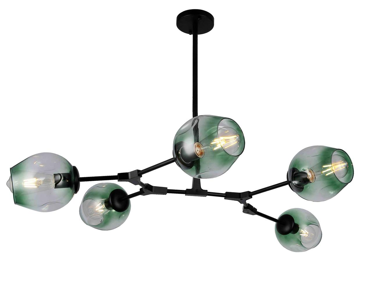 Люстра молекула Levistella 752L7731-5 BK+GR