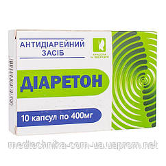 Диаретон (антидиарейное средство), 400 мг, 10 капсул, Красота и Здоровье