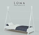 """Детская кровать домик из натурального дерева """"Индиано"""" (Луна), фото 2"""