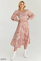 Нежное романтичное платье-миди S M L XL