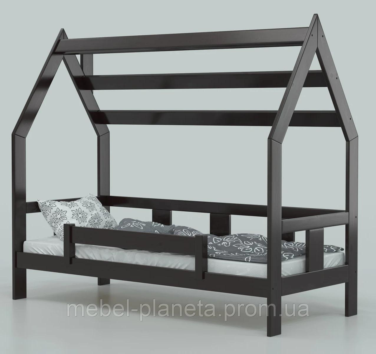 """Детская кровать домик из натурального дерева """"Нико"""" (Луна)"""
