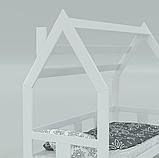 """Детская кровать домик из натурального дерева """"Нико"""" (Луна), фото 2"""