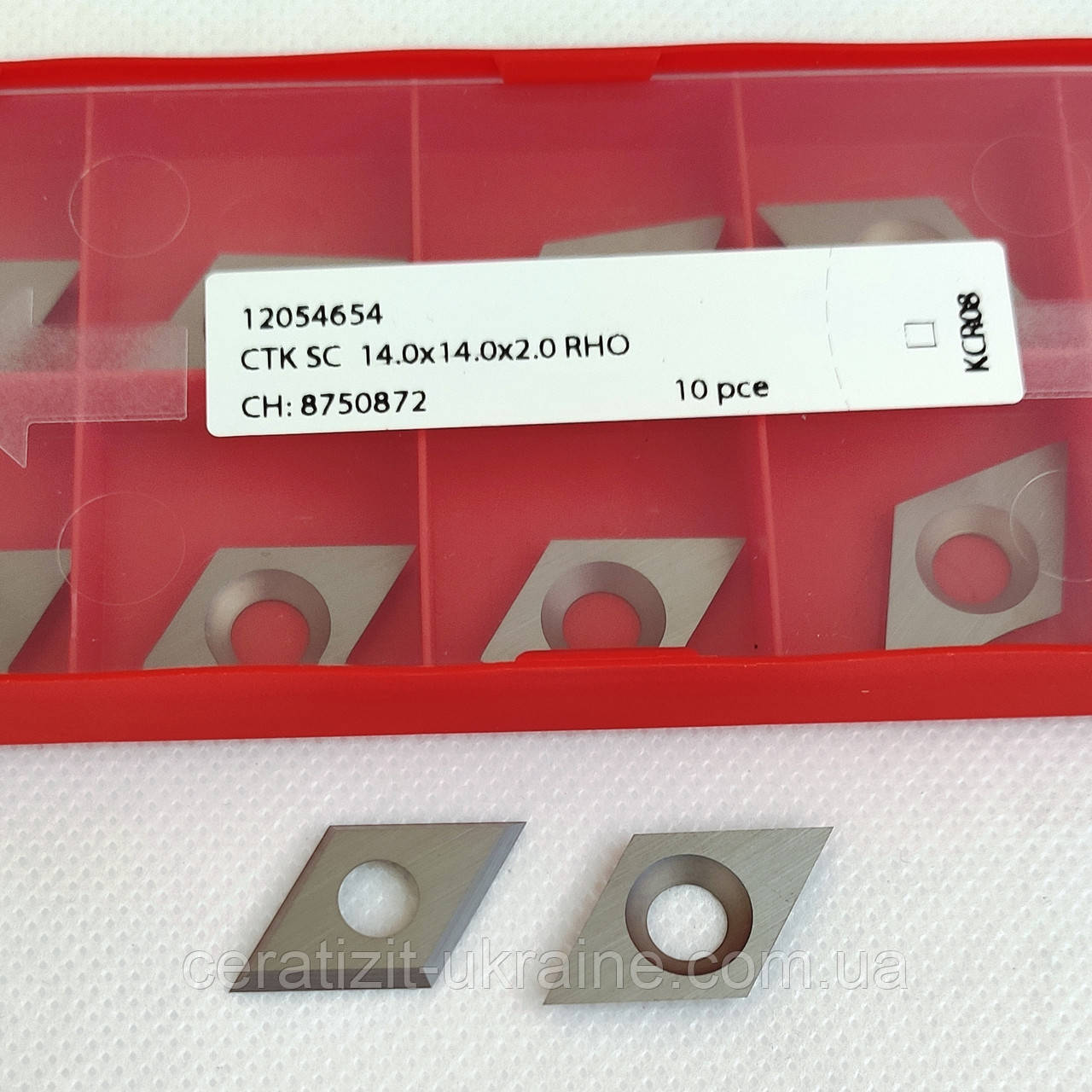 Ніж змінний тв/спл HW  14,0х14,0х2,0 KCR08, ромб Ceratizit (Люксембург)
