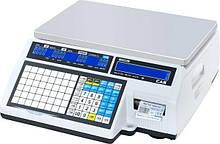 Весы с печатью этикетки CAS CL5000J-IB