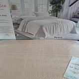 Вафельная Летняя Простынь Покрывало На Кровать Однотонное Евро Размер La Rita Бежевая, фото 3