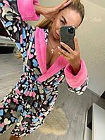 Домашний халат женский с сердечками, фото 1