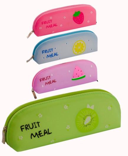 Пенал-косметичка силиконовый, любимые фрукты