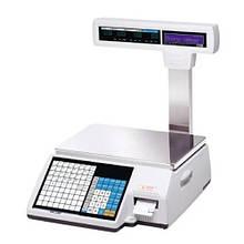 Весы с печатью этикетки CAS CL5000J-IP