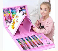Набор для детского творчества в чемодане из 208 предметов | Чемоданчик юного художника