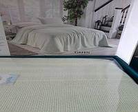 Вафельная Летняя Простынь Покрывало На Кровать Однотонное Евро Размер La Rita зеленая
