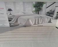 Вафельная Летняя Простынь Покрывало На Кровать Однотонное Евро Размер La Rita Серая
