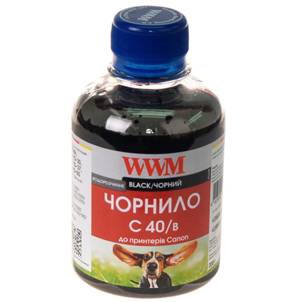 Водорозчинне чорнило WWM C40/B C40/B Black (200 ml)