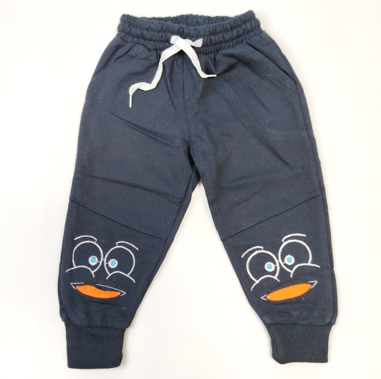 Детские штаны хлопковые для мальчика 4 года 104р синие