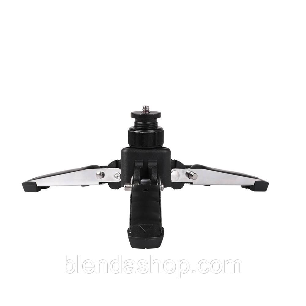 Металлический мини-штатив - подставка для фотоаппарата, видеокамеры, экшен камеры и др. (код: DV-holder)